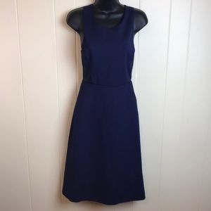 Banana Republic Navy Dress w/ A Line Skirt